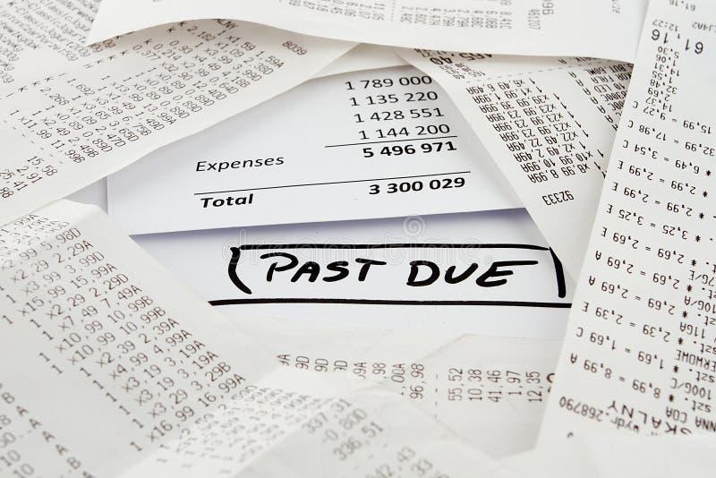 将被支付的过期票据 免版税库存照片