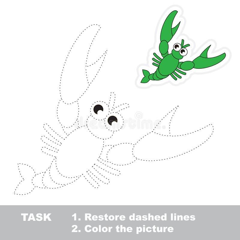 将被追踪的小龙虾 传染媒介踪影比赛 库存例证