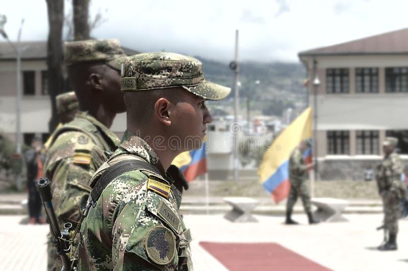 尊敬行动对在哥伦比亚的冲突下落的战士的 免版税库存图片
