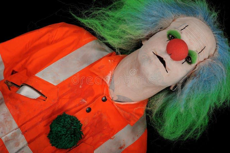 小丑五颜六色的男 免版税库存照片