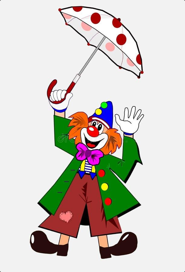 小丑伞 图库摄影