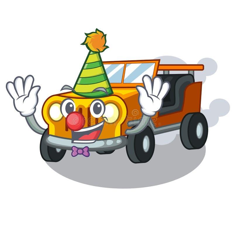 小丑吉普在前面赦免的动画片汽车 皇族释放例证