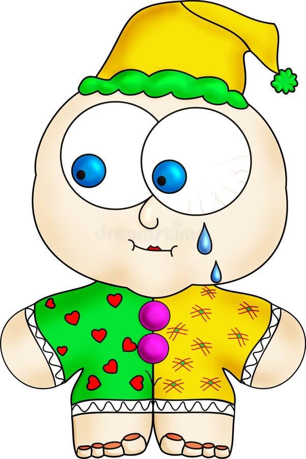 小丑哭泣 库存图片
