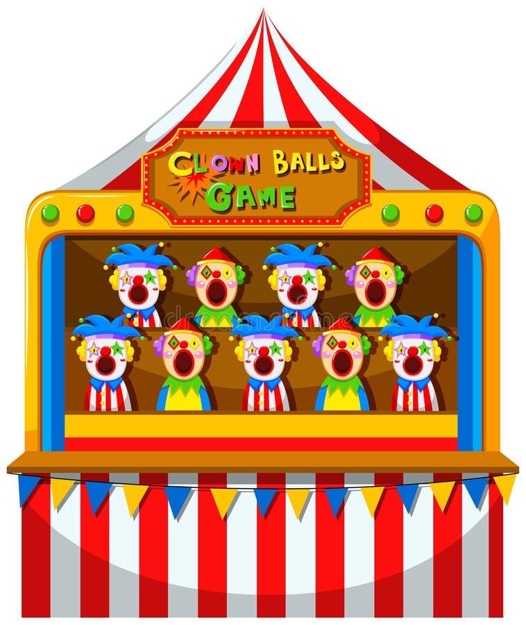 小丑在马戏的局面 皇族释放例证