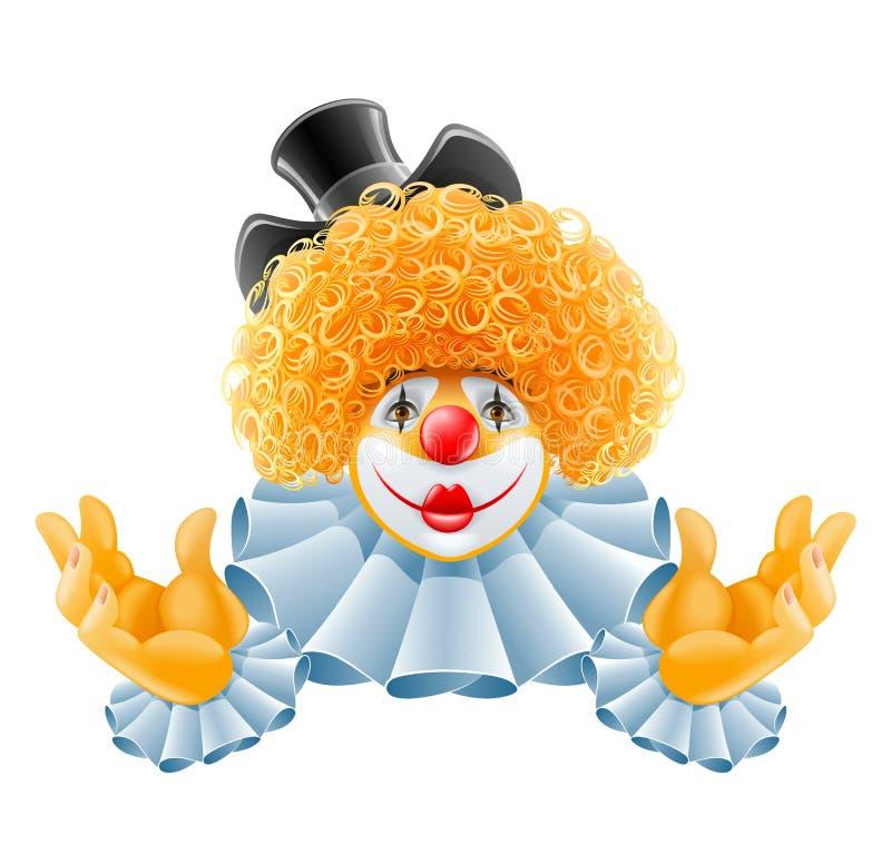 小丑头发红色微笑 皇族释放例证