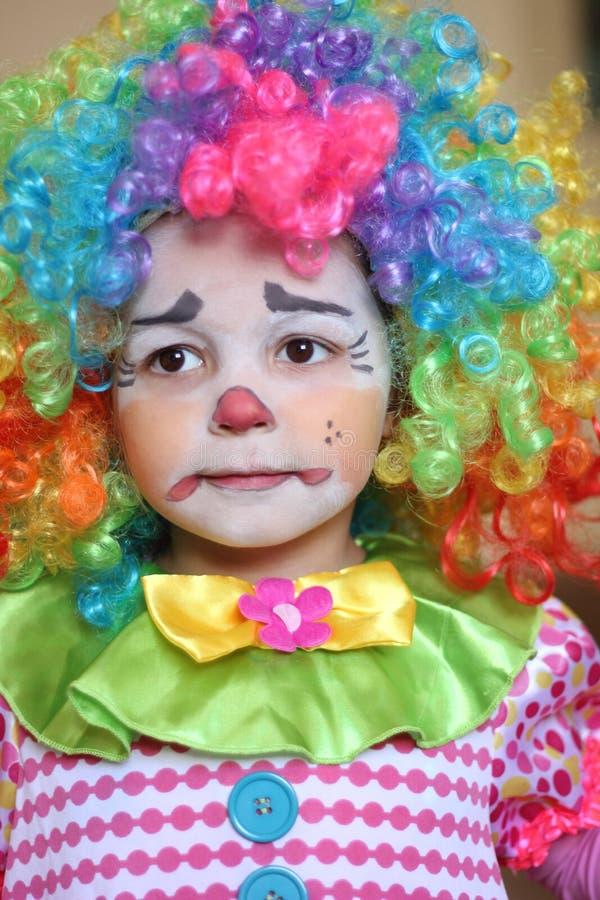 小丑女孩 免版税图库摄影