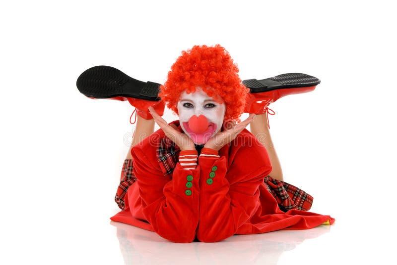小丑女性节假日 免版税库存图片