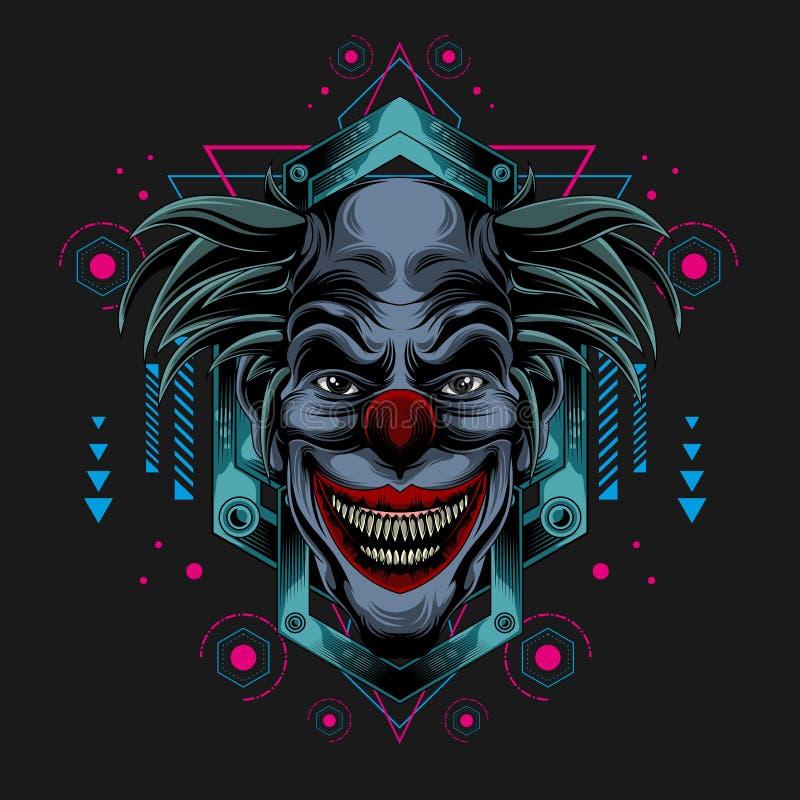 小丑尖叫红色nouse 库存例证