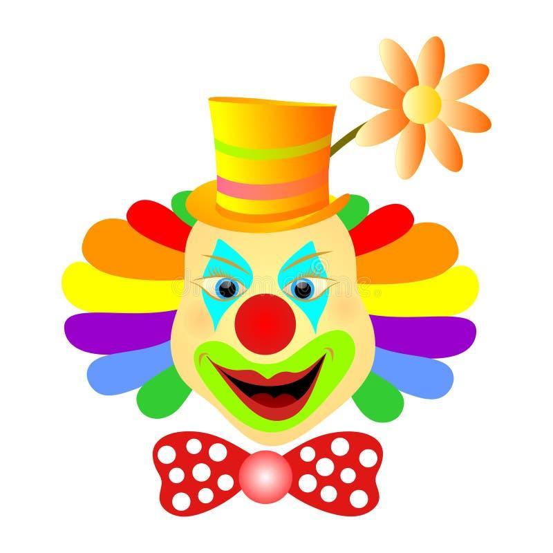 小丑微笑 向量例证