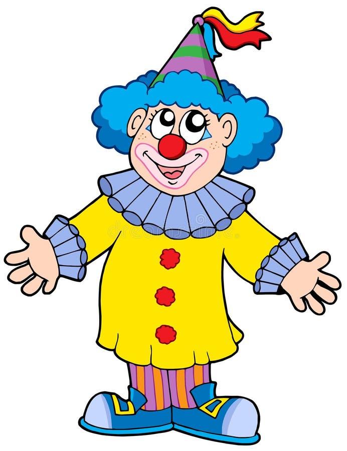 小丑微笑 库存例证