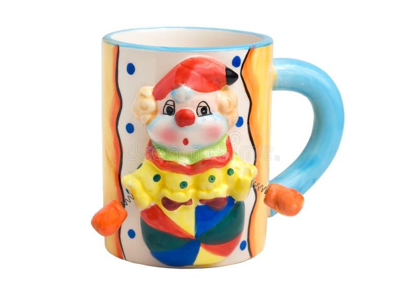 小丑杯子 免版税库存照片