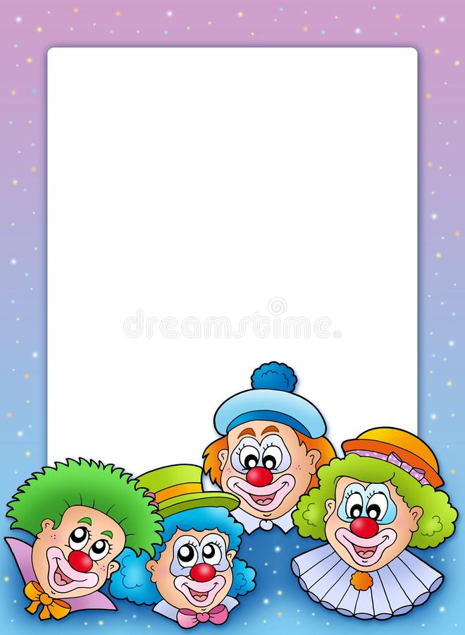 小丑构成多种 向量例证