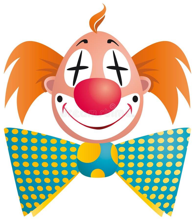 小丑查出的纵向 向量例证