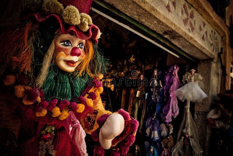 小丑牵线木偶 免版税图库摄影