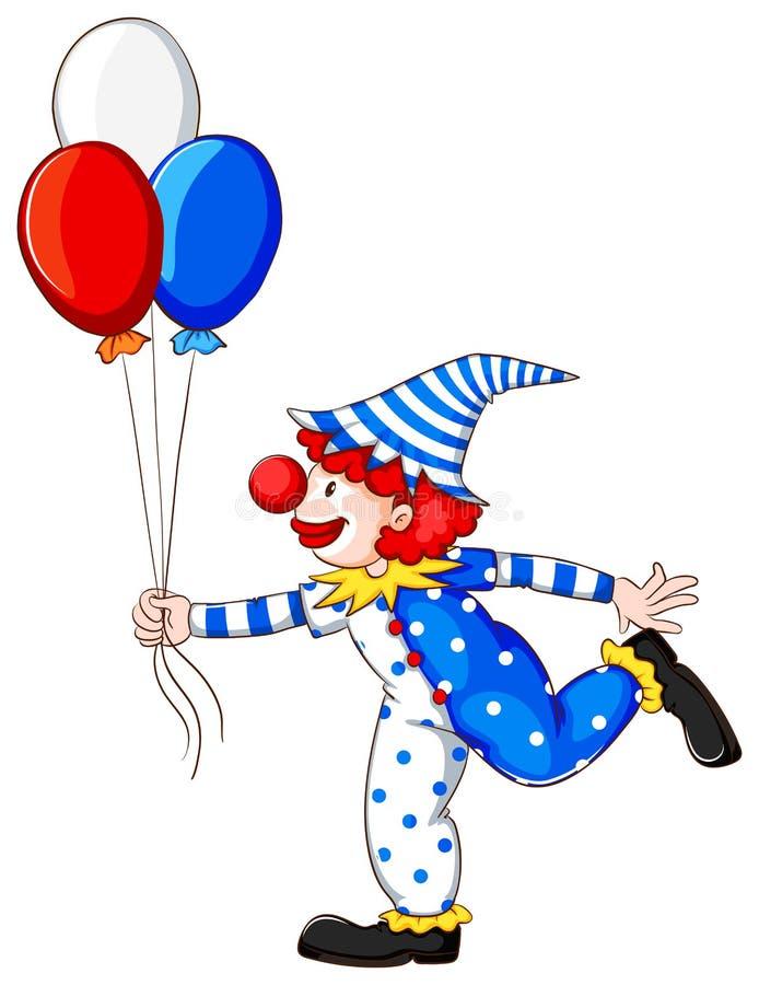 小丑的一张色的图画 皇族释放例证