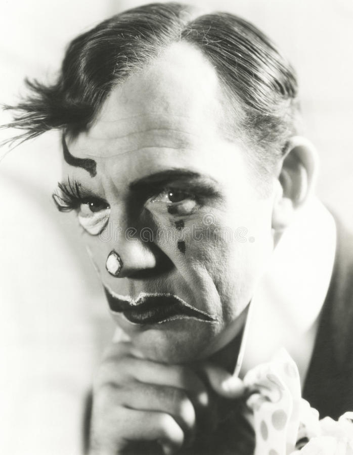 小丑的泪花 免版税库存图片