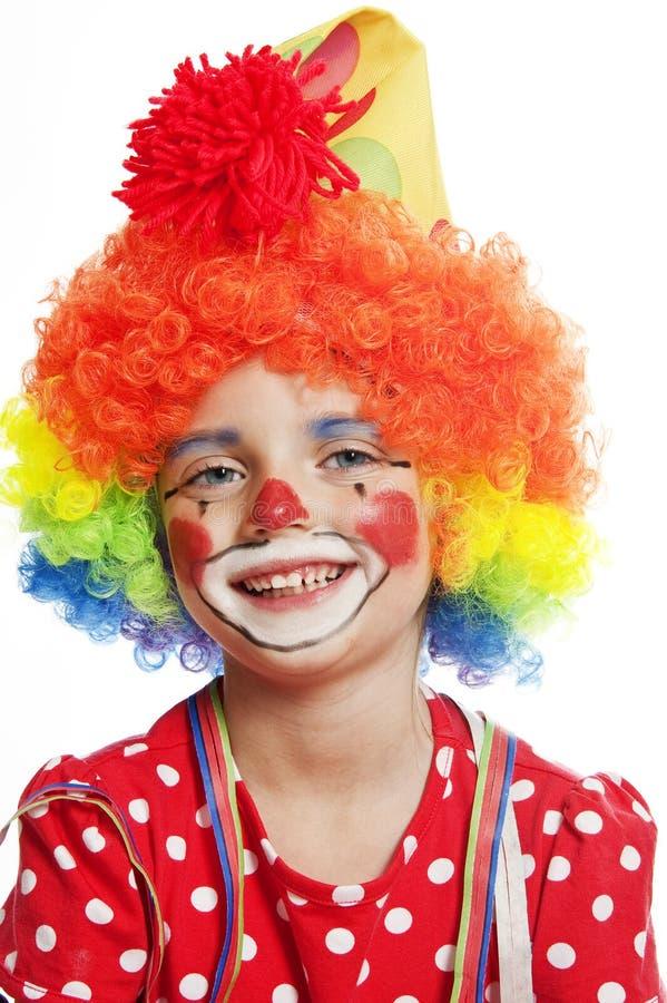 小丑纵向  免版税库存图片