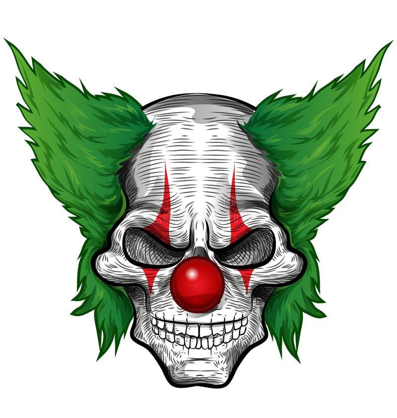 小丑设计例证头骨向量 向量例证