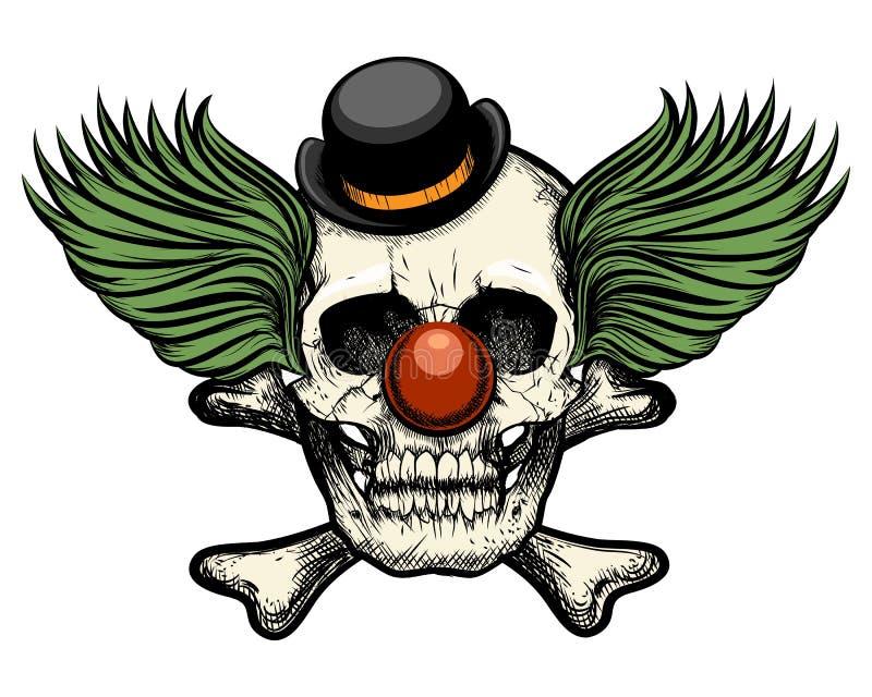 小丑设计例证头骨向量 皇族释放例证
