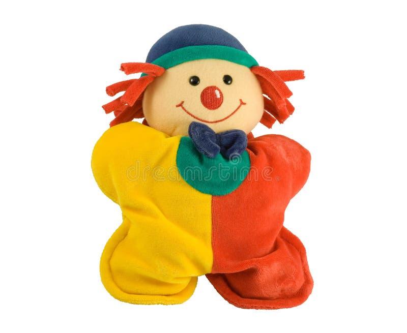 小丑长毛绒玩具 图库摄影