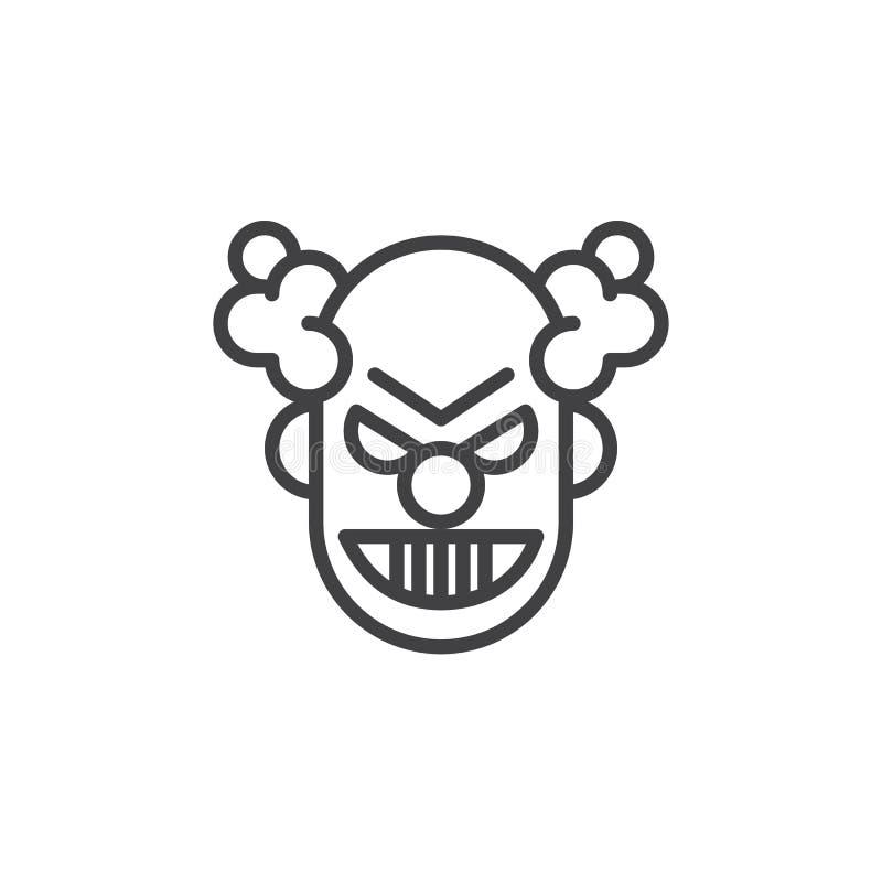 小丑面具线象 皇族释放例证