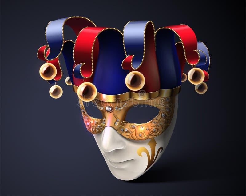 小丑面具设计 库存例证