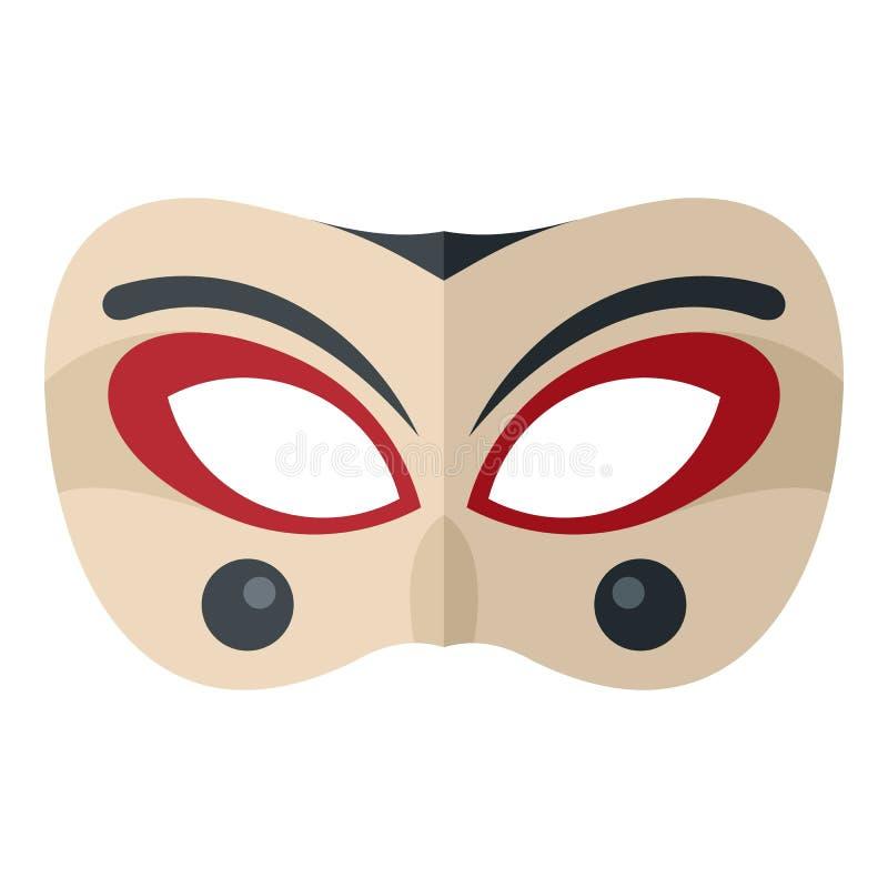 小丑面具象,平的样式 皇族释放例证