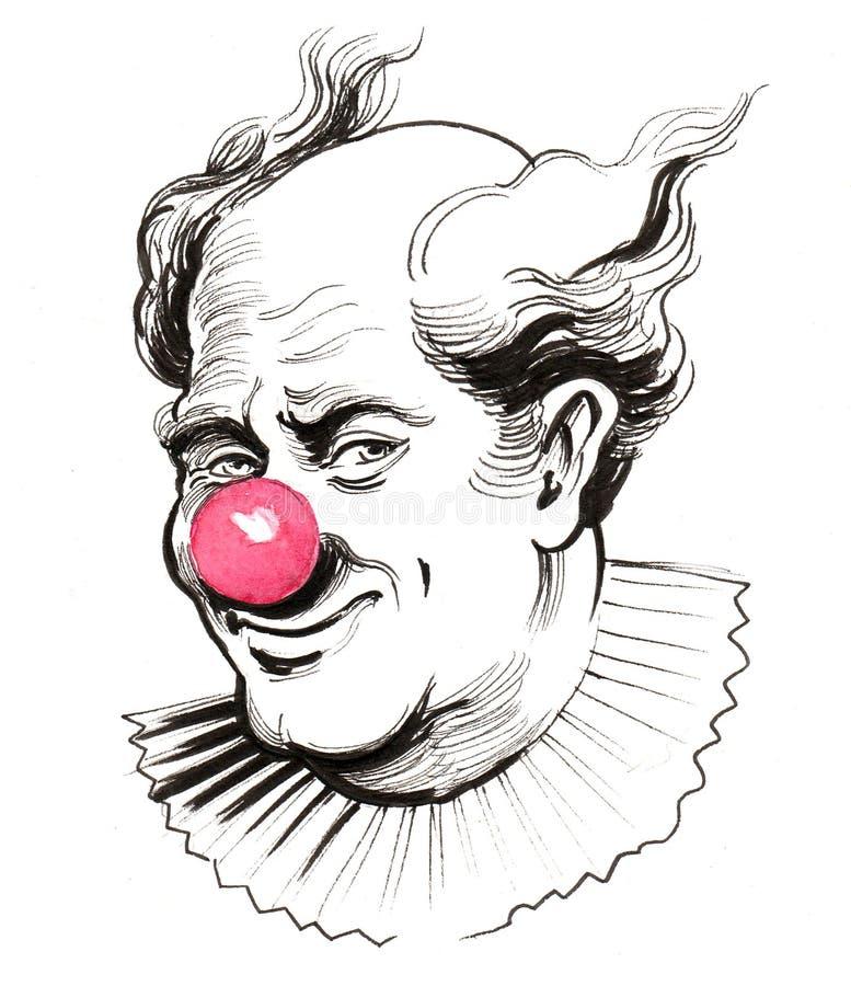小丑面孔 向量例证