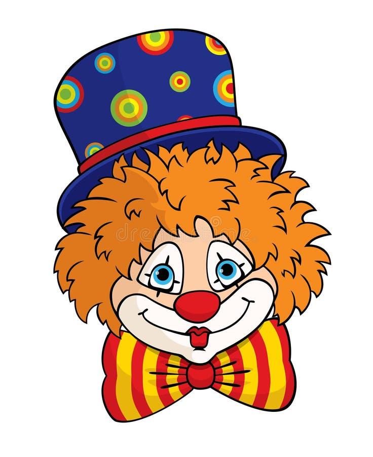 小丑面孔 库存例证