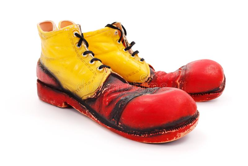 小丑鞋子 库存照片