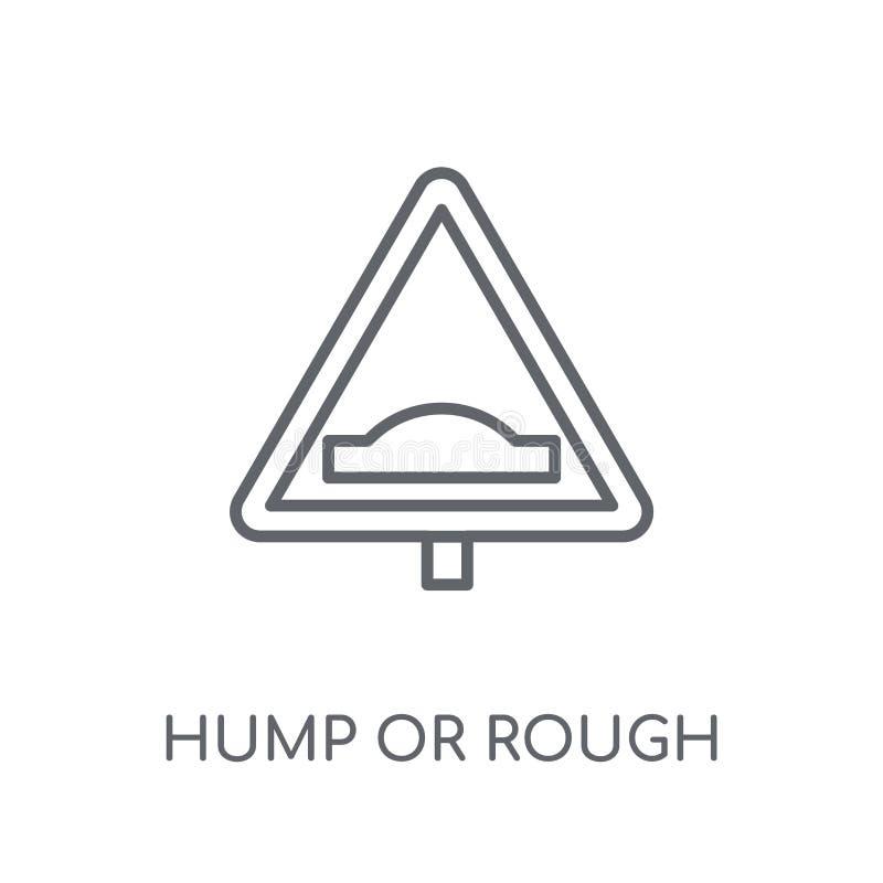 小丘或概略的标志线性象 现代概述小丘或粗砺的信号 皇族释放例证