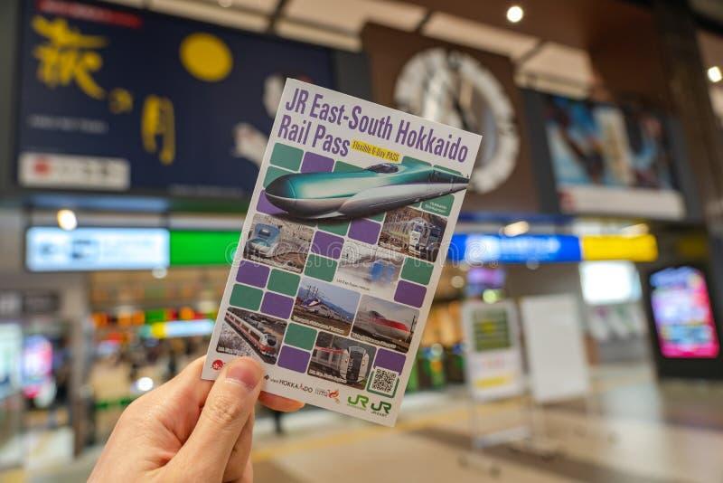 小东部南部北海道钢轨孔型 免版税库存图片