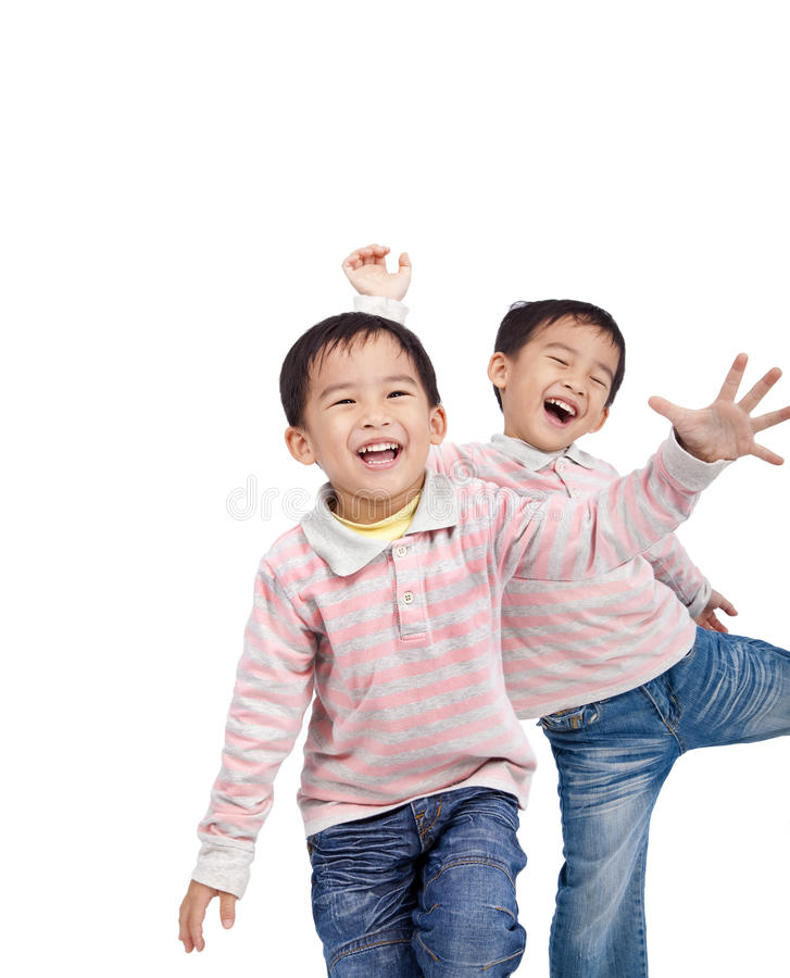 小亚洲查出的孩子 免版税库存照片