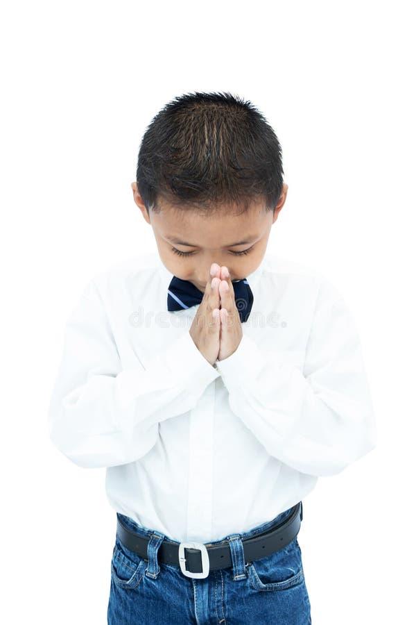 小亚裔男孩画象  免版税库存图片