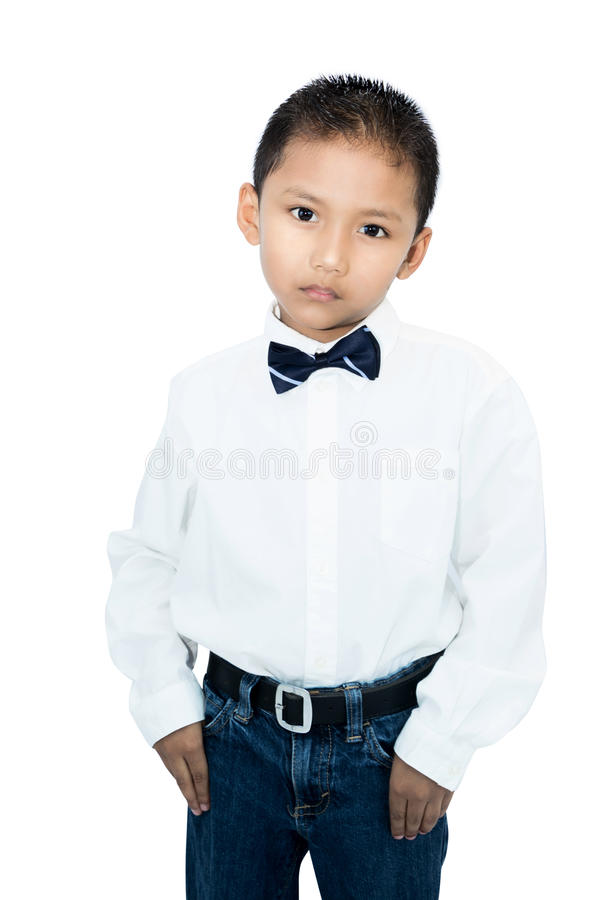 小亚裔男孩画象  库存图片