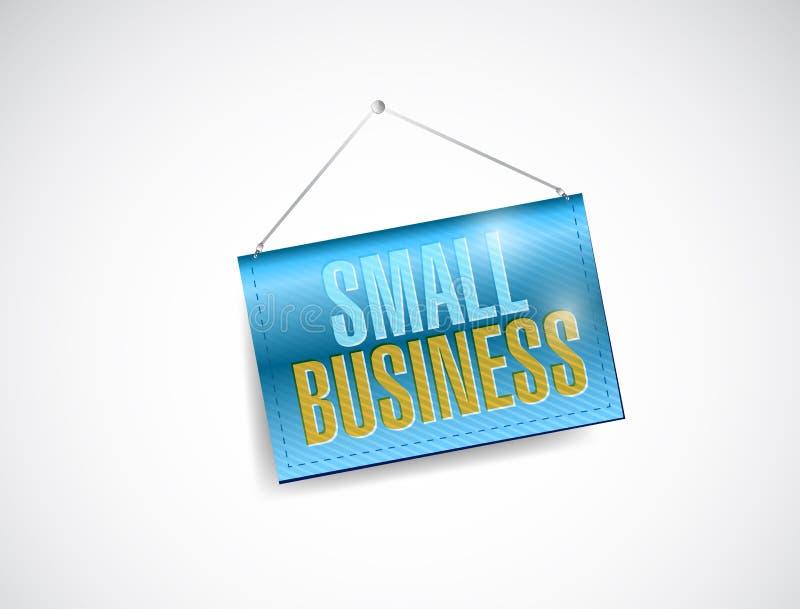 小企业垂悬的横幅 皇族释放例证