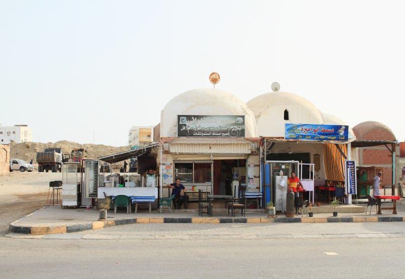 小传统餐馆在Marsa阿拉姆 图库摄影