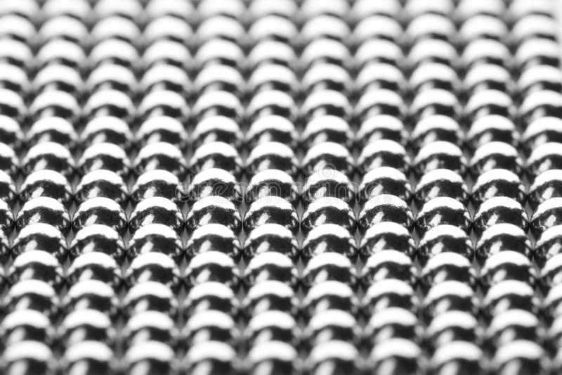 小作为背景的金属磁性球 免版税图库摄影