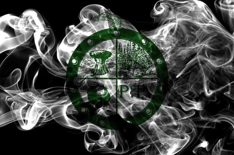 小便小便乡城市烟旗子,俄亥俄状态, A美国  免版税库存图片