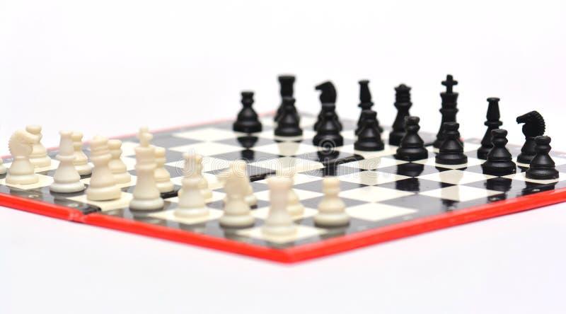 小便携式的旅行下棋比赛 库存照片