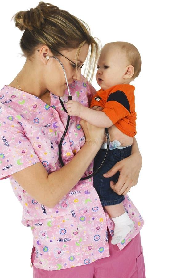 小儿科的护士 免版税库存图片