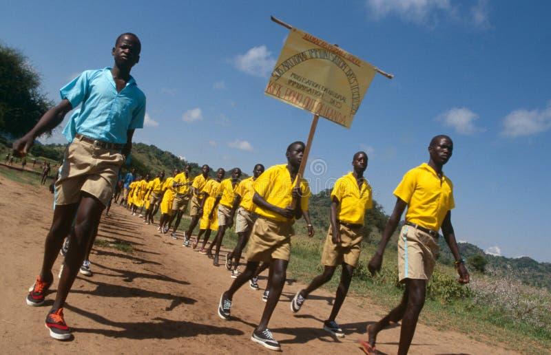 小儿麻痹症免疫意识活动,乌干达 免版税库存照片