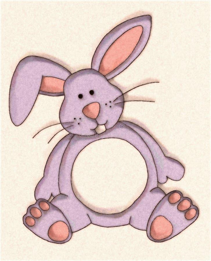 小兔被充塞的玩具 皇族释放例证
