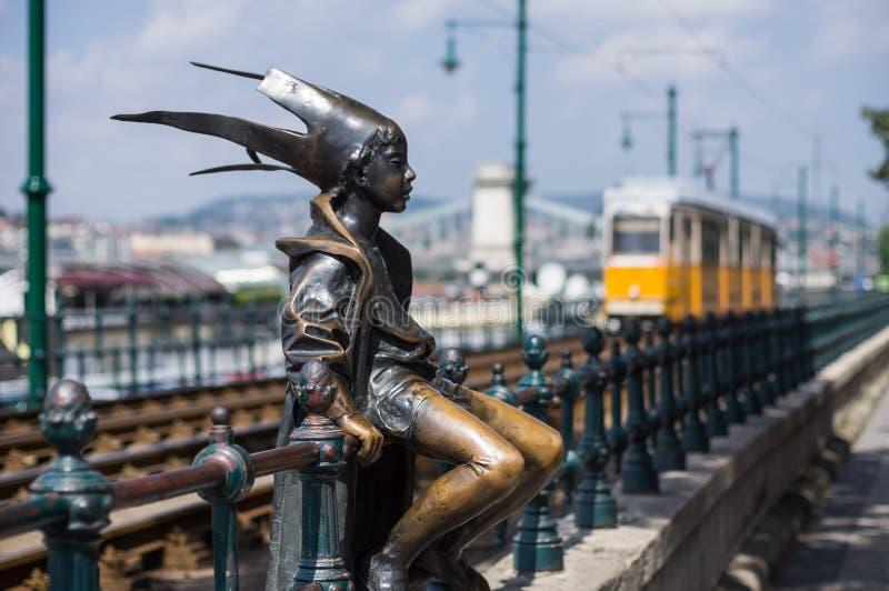 小公主Statue在布达佩斯,匈牙利 库存照片