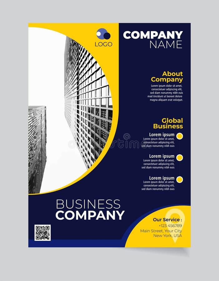 小册子企业模板简单的现代设计和elegant_business小册子模板11 向量例证
