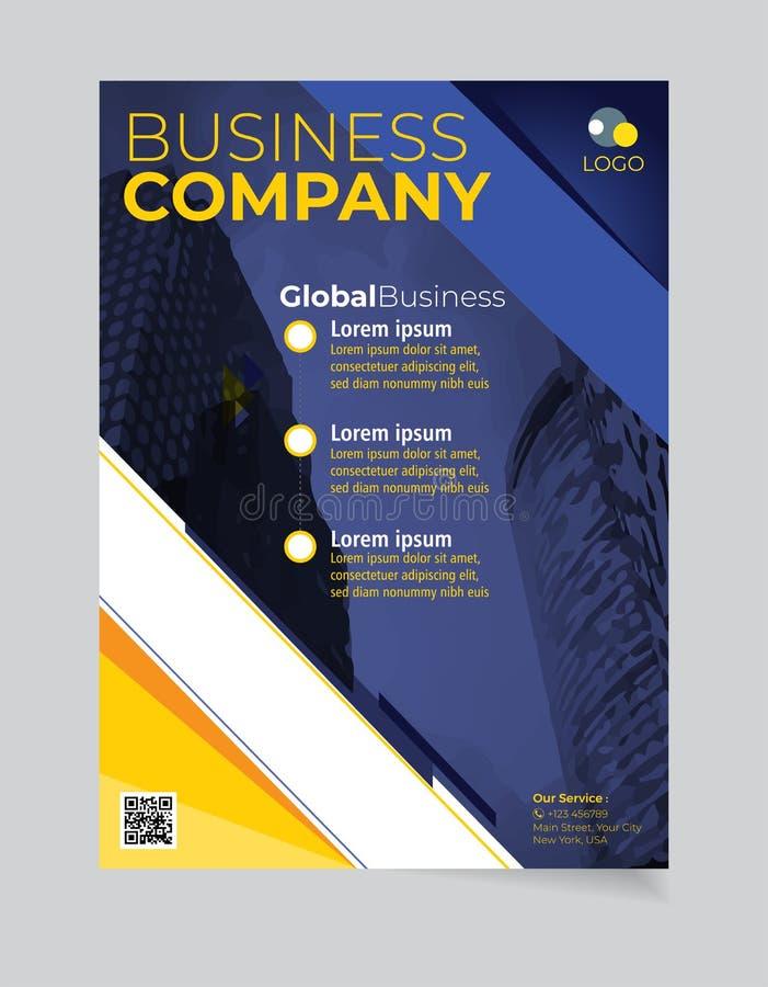 小册子企业模板简单的现代设计和elegant_business小册子模板09 向量例证