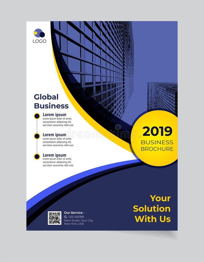 小册子企业模板简单的现代设计和elegant_business小册子模板07 库存例证