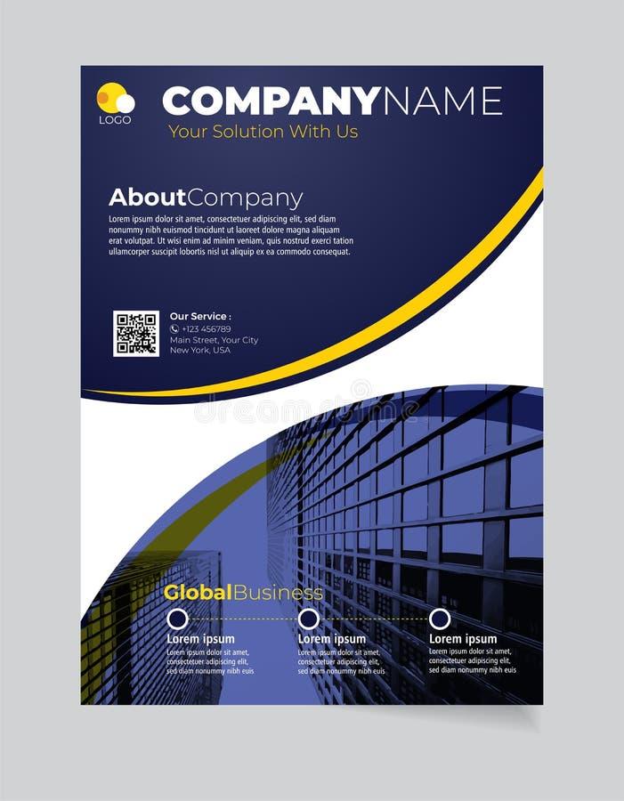 小册子企业模板简单的现代设计和elegant_business小册子模板06 向量例证