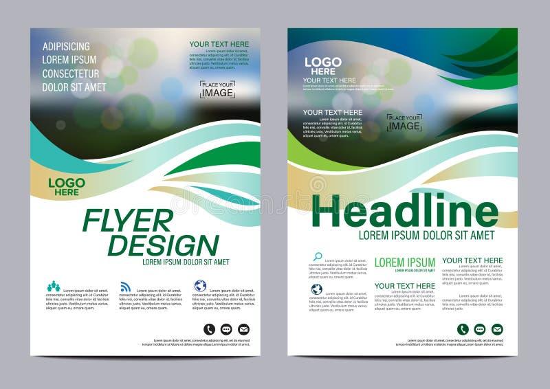 小册子布局设计模板 年终报告飞行物传单盖子介绍现代背景 在A4的例证传染媒介 向量例证