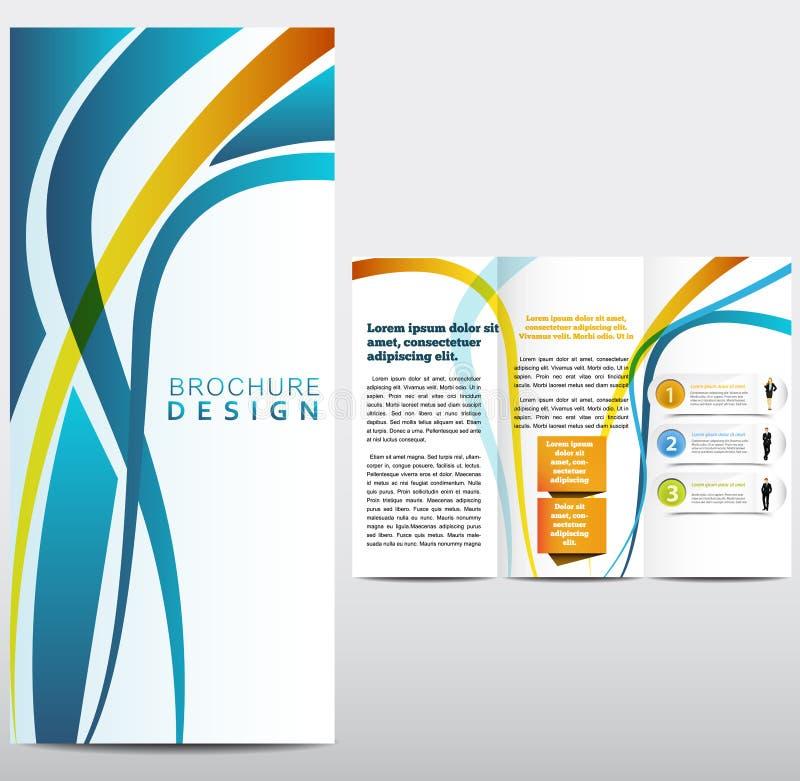 小册子布局设计模板 向量例证